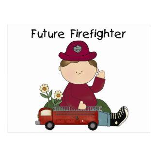 Zukünftige Feuerwehrmann-T-Shirts und Geschenke Postkarte