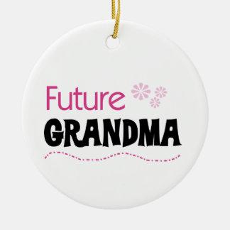 Zukünftige Großmutter-Geschenke Rundes Keramik Ornament