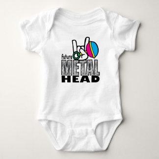Zukünftige Metallkopfraupe Baby Strampler