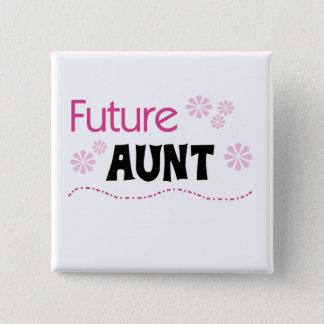 Zukünftige Tante Tshirts und Geschenke Quadratischer Button 5,1 Cm