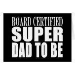 Zukünftige Väter: Brett zugelassener Supervati zum Grußkarte