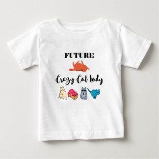 Zukünftige verrückte Katzen-Dame - niedliche Baby T-shirt