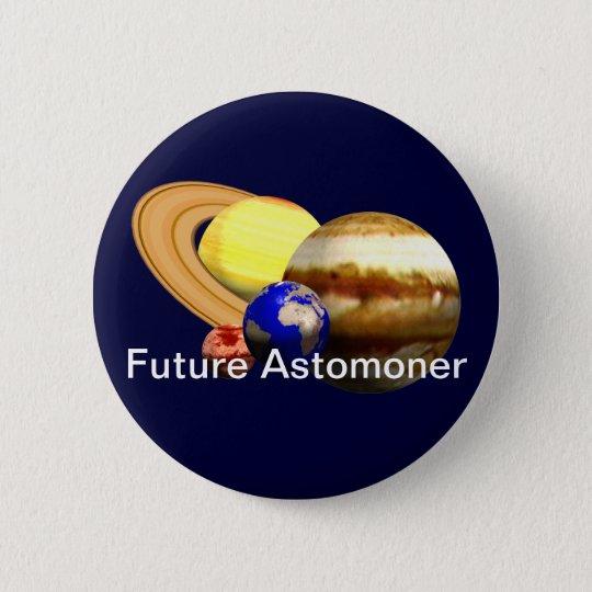 Zukünftiger Astronom Runder Button 5,1 Cm