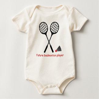 Zukünftiger Badminton Spieler, Schläger u. Baby Strampler