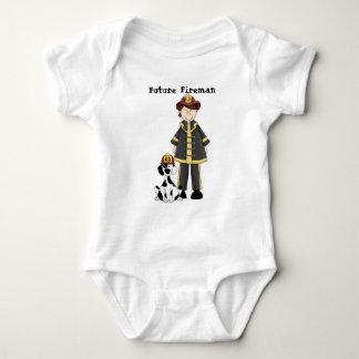 Zukünftiger Feuerwehrmann Baby Strampler