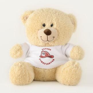 Zukünftiger Feuerwehrmann-Teddybär Feuer-Abteilung Teddybär