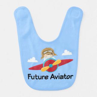 Zukünftiger Flieger-Flugzeug-Baby-Schellfisch Lätzchen