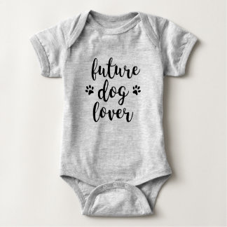 Zukünftiger Hundeliebhaber-Bodysuit Baby Strampler