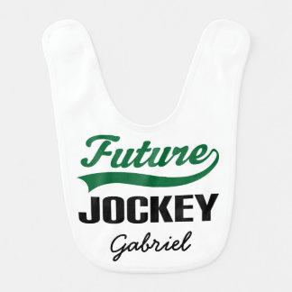 Zukünftiger Jockey-personalisierter Babylätzchen