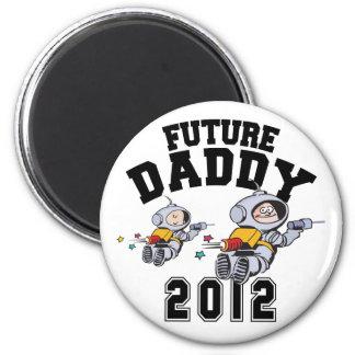 Zukünftiger Vati 2012 - Vater zum zu sein Runder Magnet 5,7 Cm