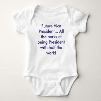Zukünftiger Vizepräsident… (Demokratblau) Baby Strampler
