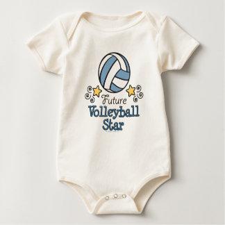 Zukünftiger Volleyball-Stern-Baby-Einteiler Baby Strampler