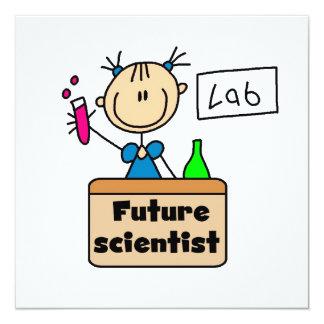 Zukünftiger Wissenschaftler Quadratische 13,3 Cm Einladungskarte