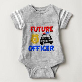 Zukünftiges Babyjungen-Shirt des Polizei-Offiziers Babybody