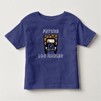 Zukünftiges Klotz-Schlepper-Baby, das Klotz-LKW Kleinkind T-shirt