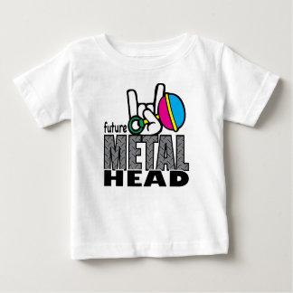 Zukünftiges Metallkopf ~ Grafik-T-Stück Baby T-shirt