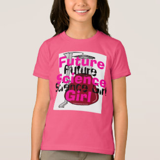 Zukünftiges Wissenschafts-Mädchen-Rosa Girly Sci T-Shirt