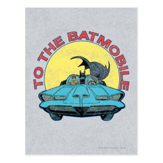 Zum Batmobile - beunruhigte Ikone Postkarte