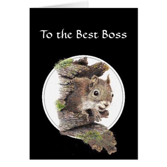 Zum besten Chef vom Bündel der Nüsse - Grußkarte