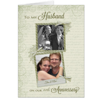 Zum Ehemann auf __th Jahrestag - Gewohnheit dann Karte