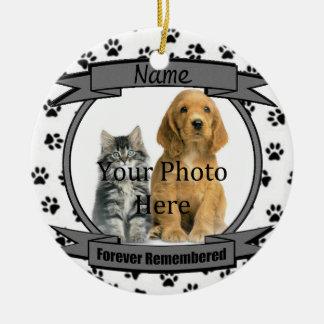 Zum Gedenken an Ihren Hund für immer erinnert Rundes Keramik Ornament