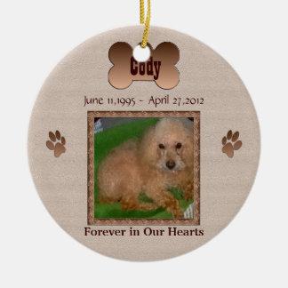 Zum Gedenken an Ihren Hund Rundes Keramik Ornament