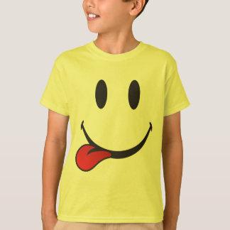 Zunge emoji heraus haften T-Shirt