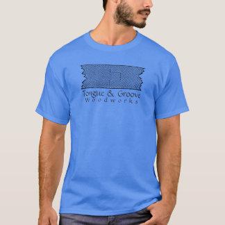 Zunge-und Nut-Holzarbeit T-Shirt