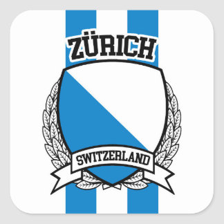 Zürich Quadratischer Aufkleber