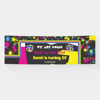 Zurück zu dem 80er Party-Fahnen-Zeichen Banner