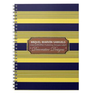 Zurück zu Schuldekorativem blauem gelbem Notizbuch Spiral Notizblock