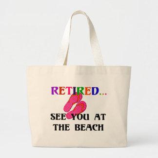 Zurückgezogen - sehen Sie Sie am Strand Jumbo Stoffbeutel