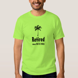 Zurückgezogen seit x-Jahr-Palme-Shirt Hemd