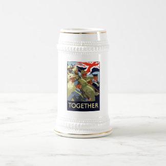 Zusammen -- Britisches Imperium WW2 Bierglas