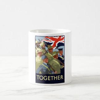 Zusammen -- Britisches Imperium WW2 Kaffeetasse