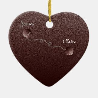 Zusammen für immer keramik Herz-Ornament