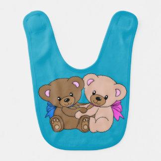 Zusammen für immer Teddybär-Schellfisch Babylätzchen