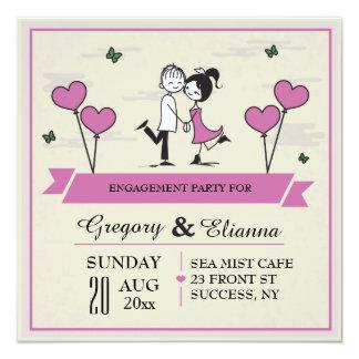 Zusammen Posten-Hochzeits-Brunch-Einladung Quadratische 13,3 Cm Einladungskarte