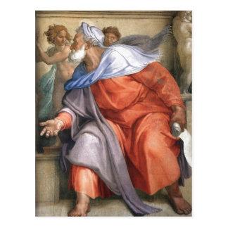 Zusammenfassungsen: Ezekiel stellte auf einer Postkarte