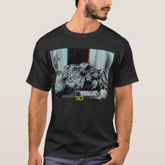 Zusammensetzung 3D der Blumen mit 3D. T-Shirt