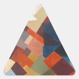 Zusammensetzung durch Otto Freundlich Dreiecks-Aufkleber