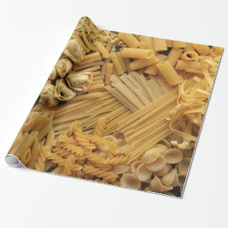 Zusammenstellung der getrockneten Teigwaren Einpackpapier