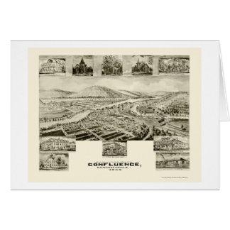 Zusammenströmen, panoramische Karte PAs - 1905