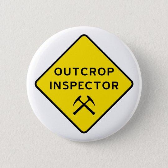 Zutageliegen-Inspektor-Knopf Runder Button 5,1 Cm