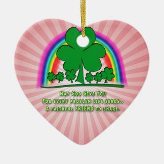 ZUVERLÄSSIGER FREUND - IRISCHER SEGEN KERAMIK Herz-Ornament