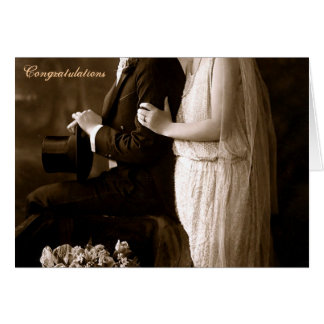 Zwanzigerjahre, die Gruß-Karte Wedding sind Karte