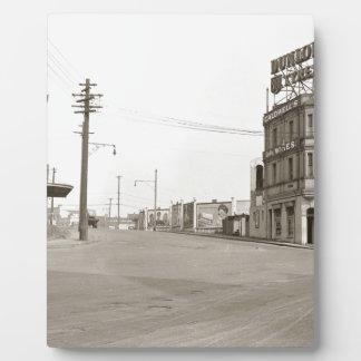 Zwanzigerjahre Vintages Straßen-Foto Platten
