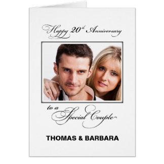 Zwanzigster Hochzeits-Jahrestags-individueller Karte