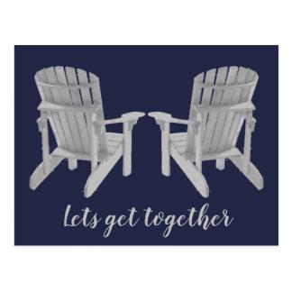Zwei Adirondack Stühle und Ihr Text Postkarte