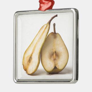 Zwei Birnenhälften - meine süße und perfekte Silbernes Ornament